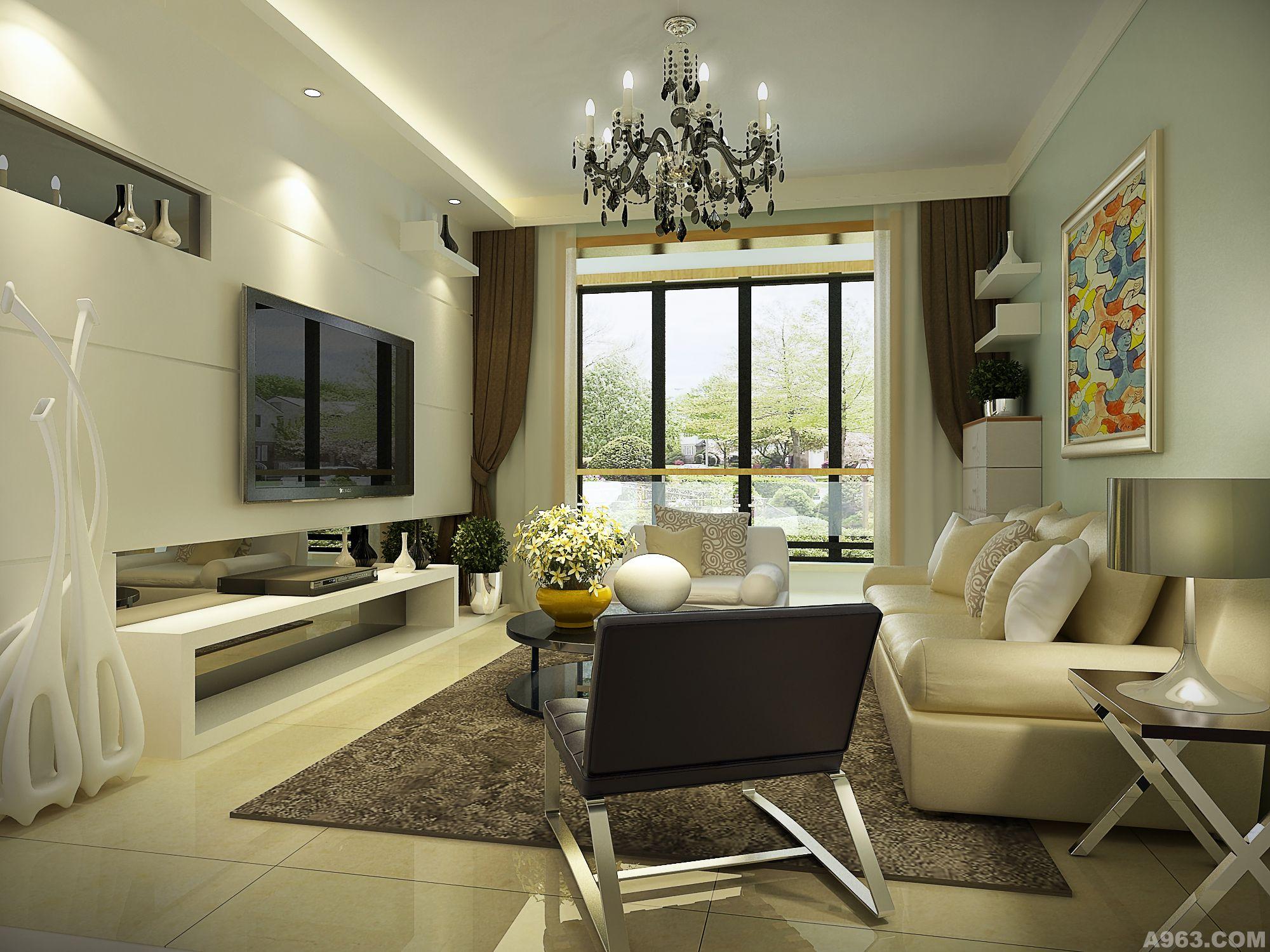 长方形客厅吊顶造型 设计图展示