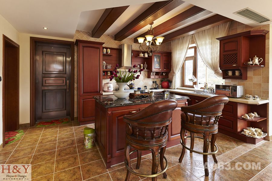 别墅厨房柴火灶设计图